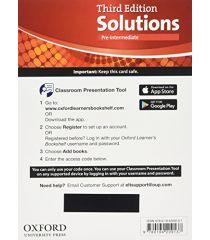 Solutions 3E Pre-Intermediate Classroom Presentation Tool