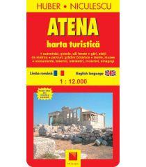 Atena. Harta turistică şi rutieră