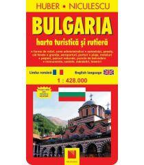 Bulgaria. Hartă turistică şi rutieră