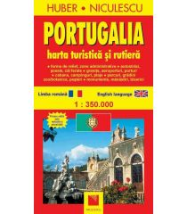Portugalia. Hartă turistică şi rutieră