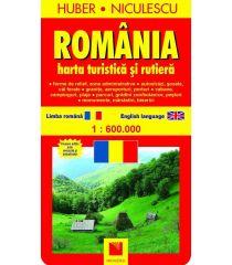 România. Hartă turistică şi rutieră