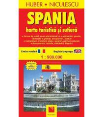 Spania. Hartă turistică şi rutieră