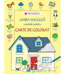 Limba engleză - primele cuvinte - CARTE DE COLORAT