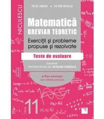 Matematică, clasa a XI-a. Breviar teoretic. Exerciţii şi probleme propuse şi rezolvate. Filiera tehnologică, toate calificările profesionale