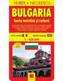 Bulgaria Hartă Turistică Si Rutieră