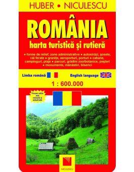 Romania Hartă Turistică Si Rutieră