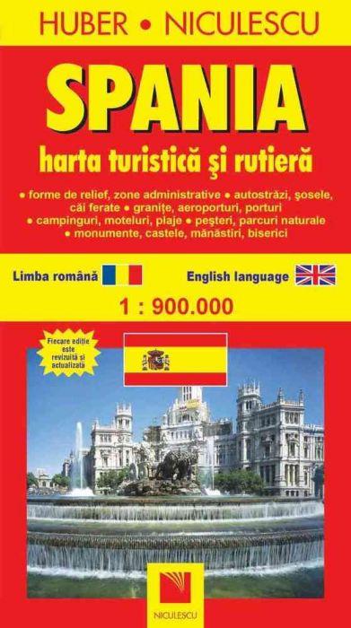 Spania Hartă Turistică Si Rutieră